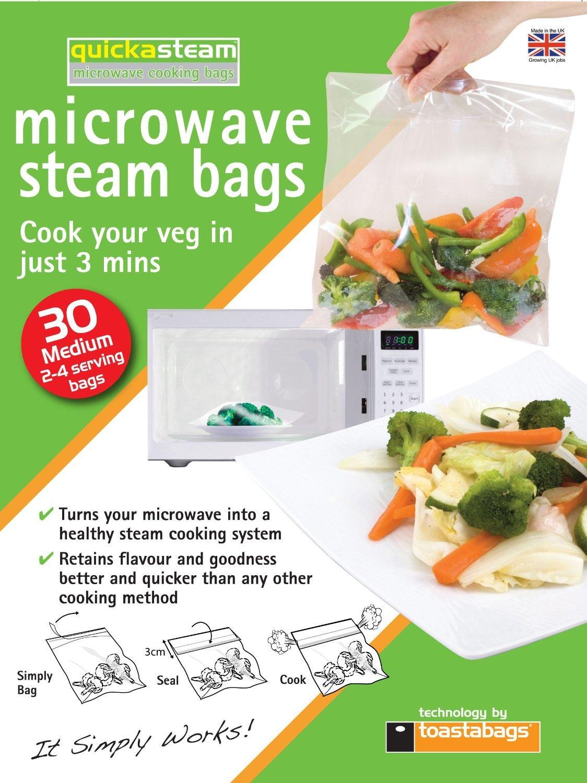 Quickasteam Mircowave Cooking Bags Medium (30 Pack) image