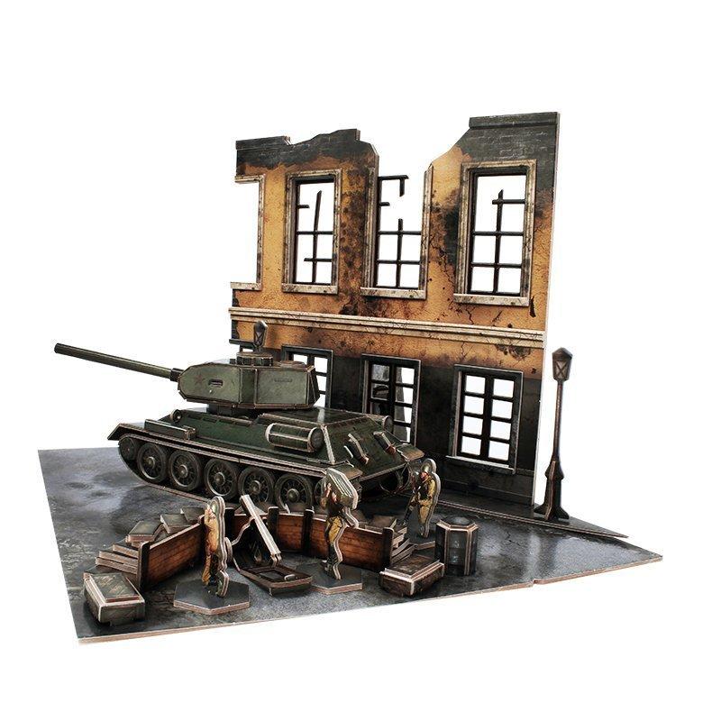 CubicFun: ArmiBuild - Soviet T34/85 - 213 Piece 3D Puzzle image
