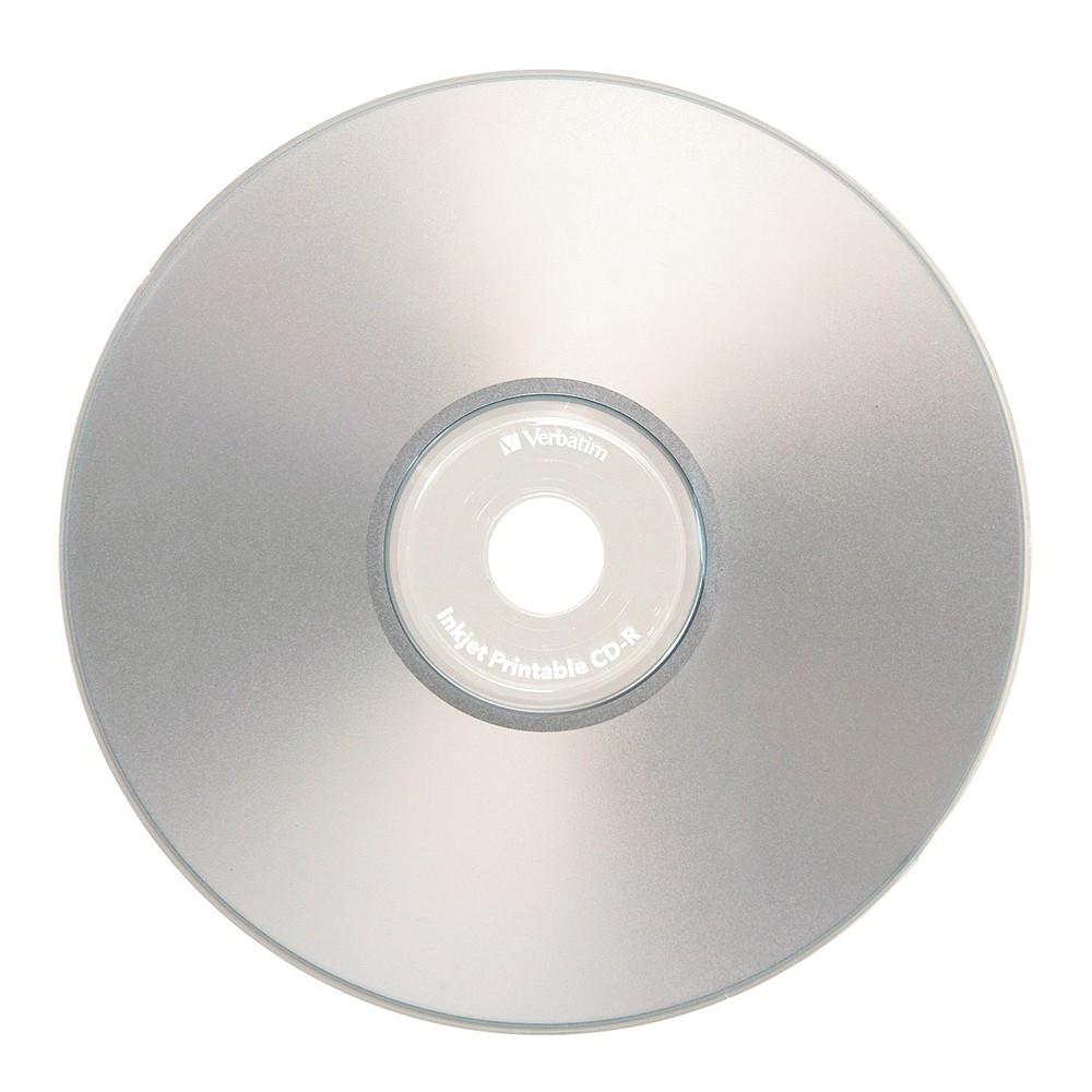 Verbatim CD-R 700MB Silver Inkjet 52x (50 Pack) image
