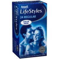 Lifestyles Regular Condoms (24pk + 6 Free)