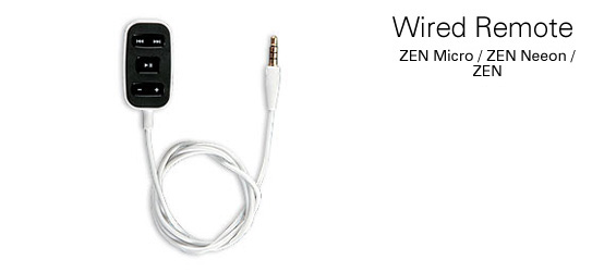 Creative Labs Zen Micro/Neeon/Vision Wired Remote image