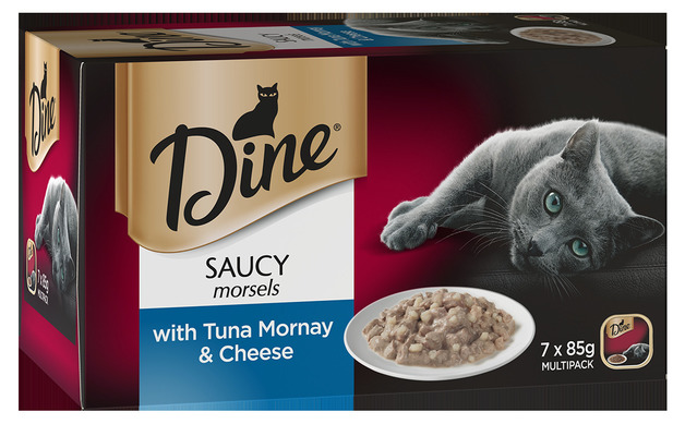 Dine Saucy Morsels With Tuna Mornay & Cheese (85g x 7)