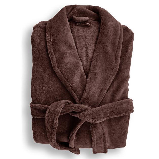 Bambury: Microplush Robe - Bitter Choc (S/M)