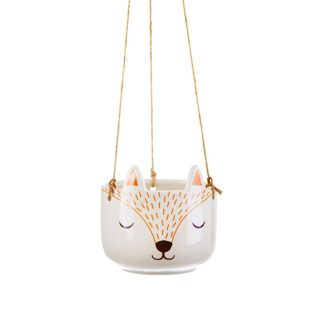 Sass & Belle: Woodland Fox Hanging Planter
