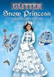 Glitter Snow Princess Sticker Paper Doll by Eileen Rudisill Miller