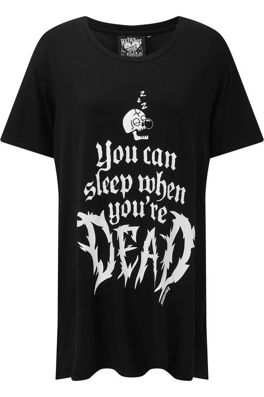 Killstar: Dead Sleepy Sleep-Shirt - L