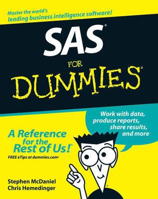 SAS For Dummies by Stephen McDaniel