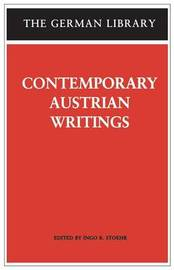 Contemporary Austrian Writings image