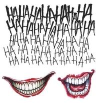 Suicide Squad The Joker Tattoo Kit