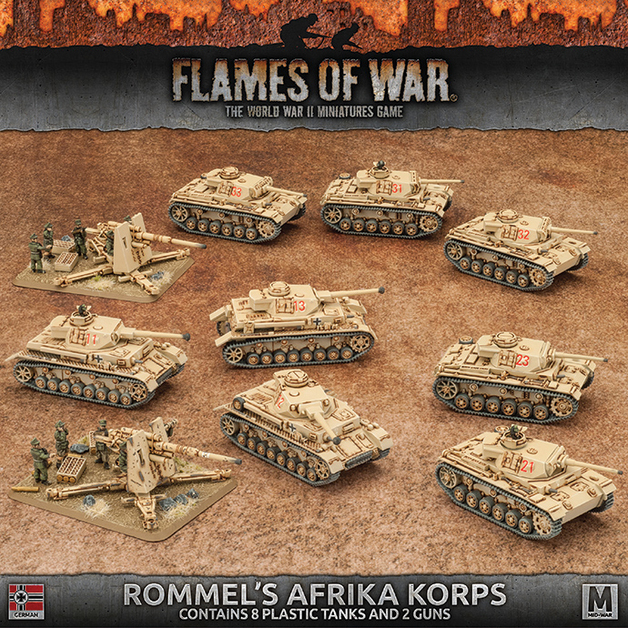 Flames of War: Rommel's Afrika Korps Starter Army Box