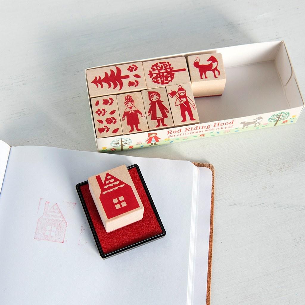 Red Riding Hood Stamp Set image