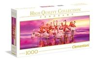 Clementoni Panorama: 1000-Piece Puzzle - Flamingo Dance image