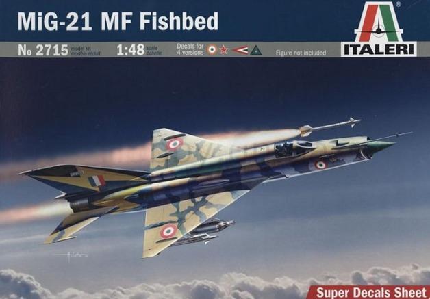 ITALERI 1//48 2715 MIG-21 MF Fishbed Model Kit