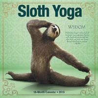 Sloth Yoga 2019 Wall Calendar by Willow Creek Press