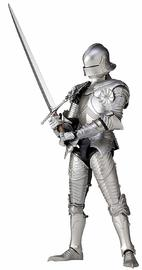 KT Project Takeya Shiki Jizai Okimono: 15th Century Gothic Style Field Armor (Silver) - Articulated Figure