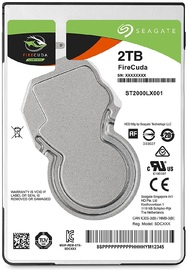 "2TB Seagate FireCuda SATA 6Gb/s 2.5"" Hybrid Gaming Hard Drive"