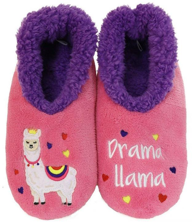 Slumbies Drama Llama Slippers (M)