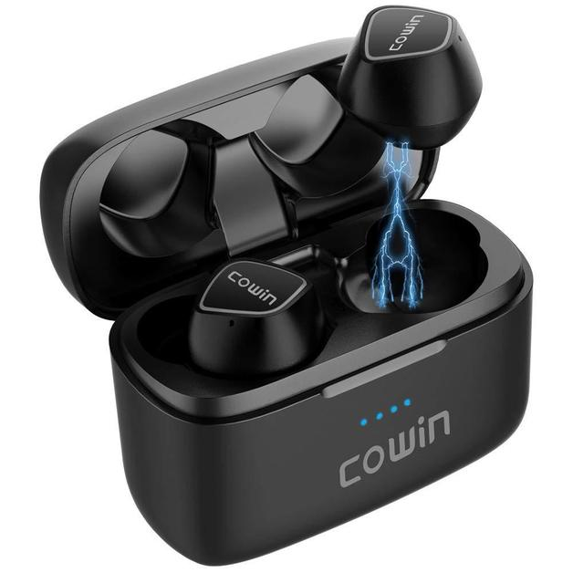 Cowin: KY02 True Wireless Earbuds - Bluetooth Headphones (Black)