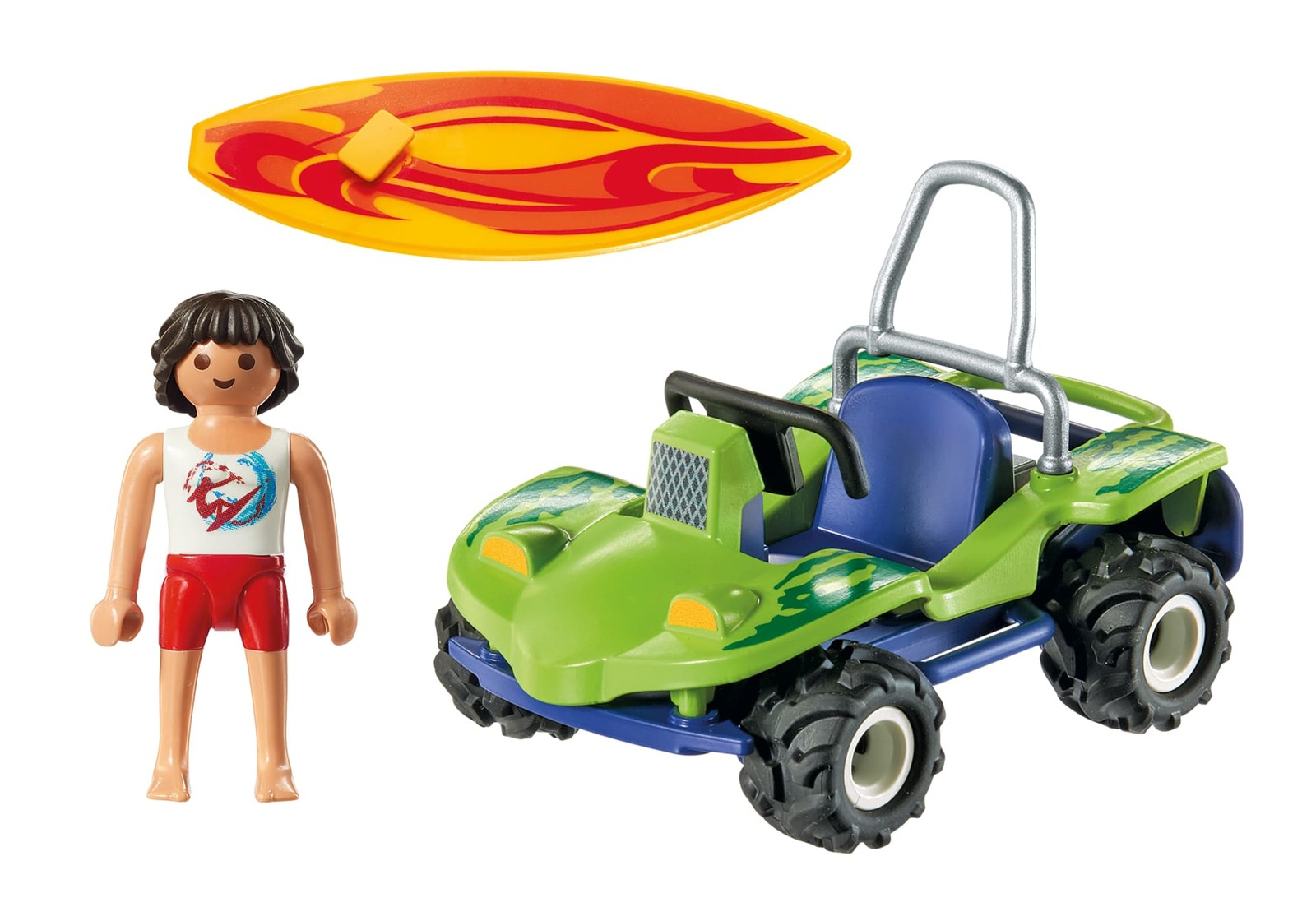 Playmobil: Family Fun - Surfer with Beach Quad image
