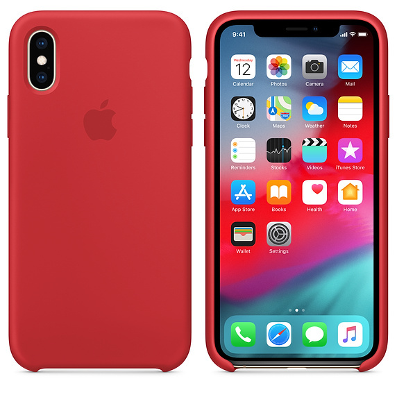 Apple: iPhone XS Silicone Case - Red