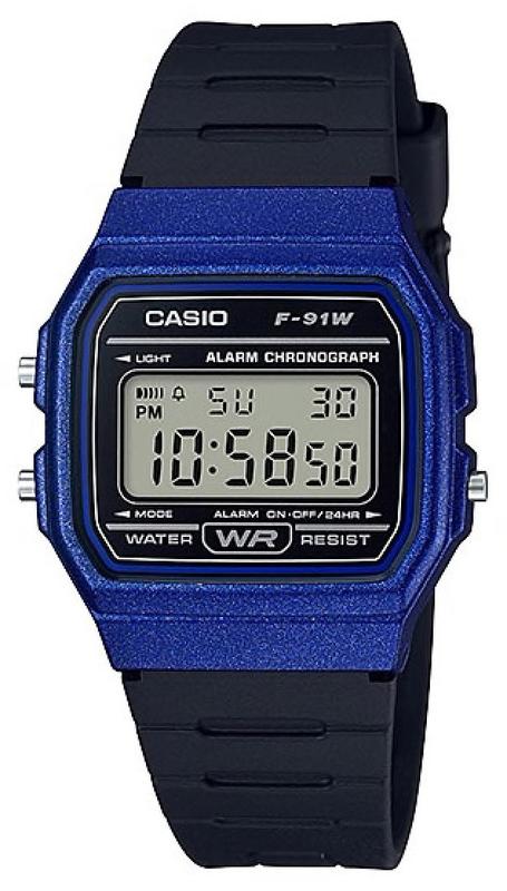 Casio Youth Retro Series Watch Resin Blue - F-91WM-2ADF