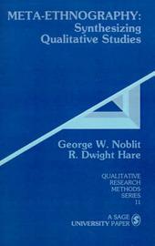 Meta-Ethnography by George W. Noblitt image