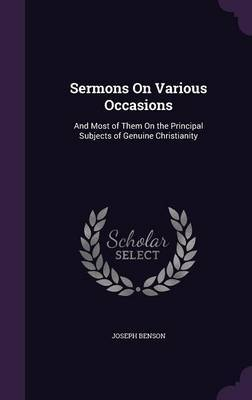 Sermons on Various Occasions by Joseph Benson image