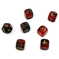 The One Ring Dice Set - Red & Black
