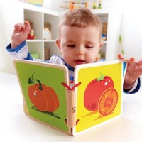 Hape: Vegetables Wooden Baby Book image