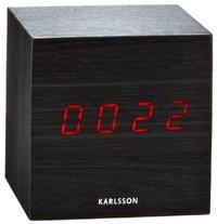 Karlsson Alarm Clock - Mini Cube (Black)