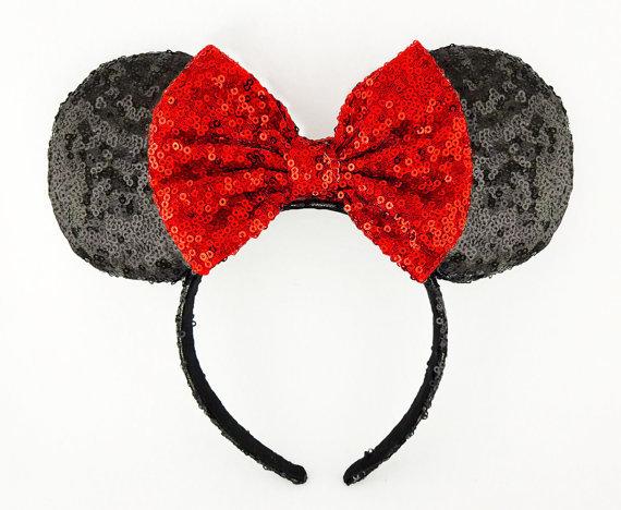 Minnie Mouse Sequined Ear Headband