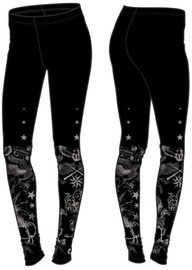 Harry Potter Magical Creatures Black Leggings: S