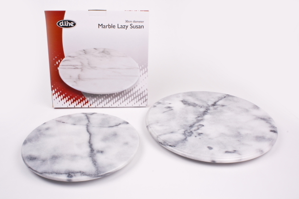 grey marble lazy susan