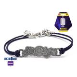 Doctor Who Gallifreyan Symbol Leather Bracelet