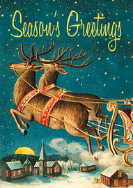 Madame Treacle: Deer & Sleig - Greeting Card