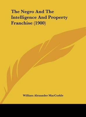 The Negro and the Intelligence and Property Franchise (1900) by William Alexander MacCorkle
