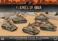 Flames of War: Fighting First - M4 Sherman Tank Platoon (Plastic)