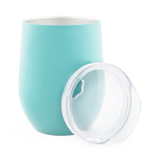 True: Sip & Go Stemless Wine Tumbler - Light Blue