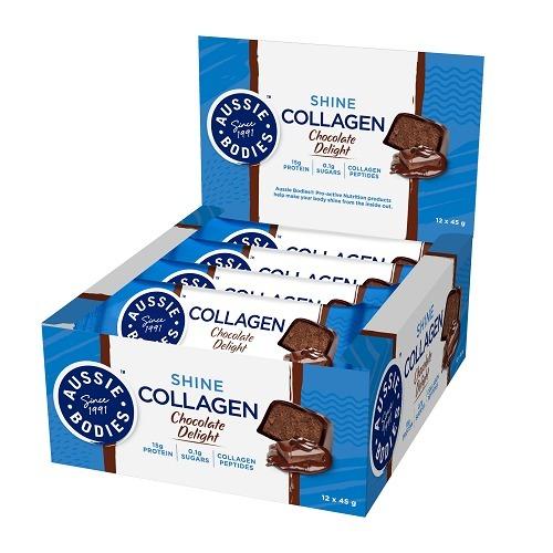 Aussie Bodies: Collagen - Chocolate Delight (12 x 45g)