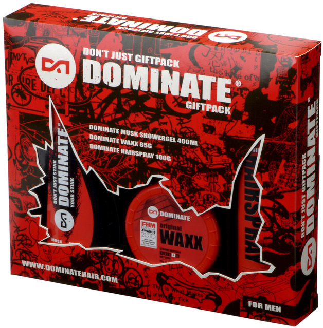 Dominate Don't Just Men's Gift Pack (Hair Waxx / Hairspray / Shower Gel)