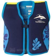 Konfidence Original Buoyancy Jacket - Navy/Blue Palm (4-5 Years)