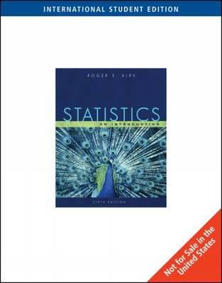 Statistics by Roger E. Kirk