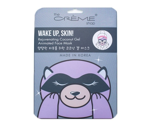The Creme Shop Wake Up Skin Sheet Mask (Raccoon)