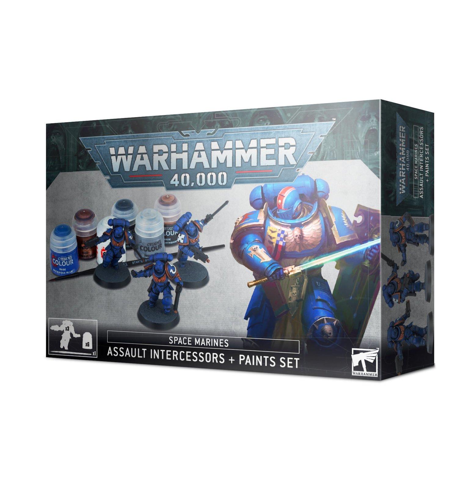 Warhammer 40,000: Assault Intercessors + Paints Set image