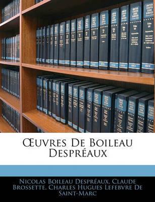 Uvres de Boileau Despraux by Nicolas Boileau Despraux image