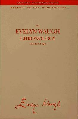An Evelyn Waugh Chronology by N Page