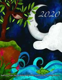 2020- Beautiful Night Sky Breathing 2019-2020 Academic Year Monthly Planner by Laura's Cute Planners