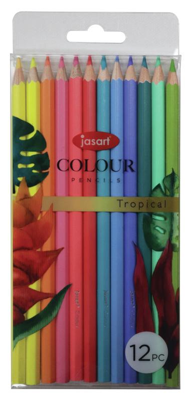 Jasart: Studio Pencil - Tropical (Set of 12)
