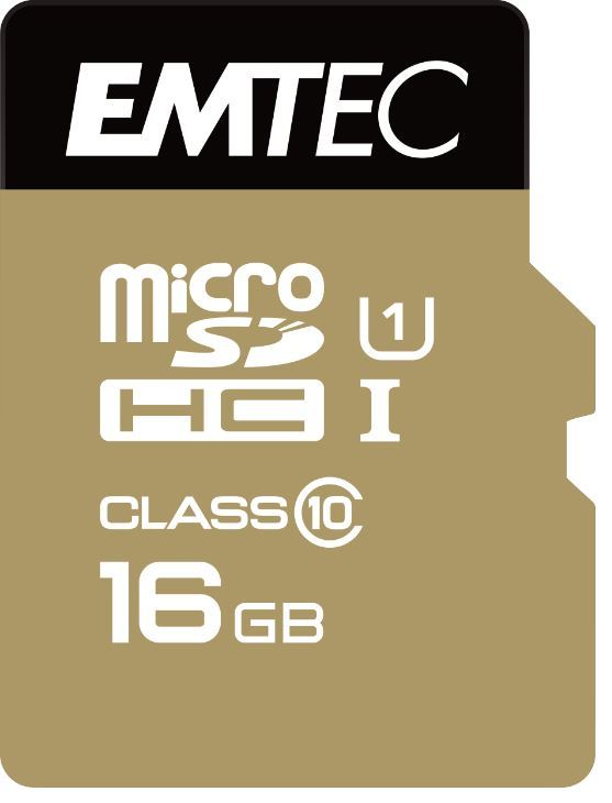 16GB Emtec Micro SD Card Gold+ (Class 10)