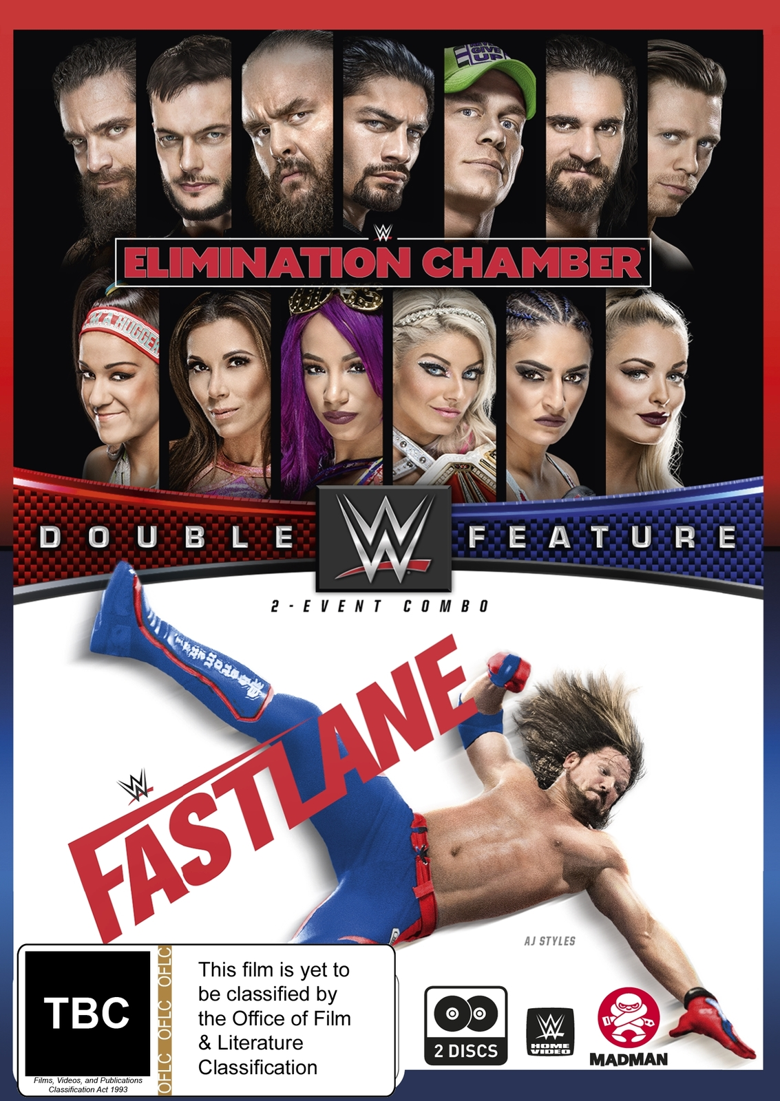 WWE: Double Feature - Elimination Chamber 2018/Fast Lane 2018 on DVD image